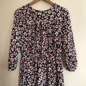 Blue and red floral dress, Nine West size 4